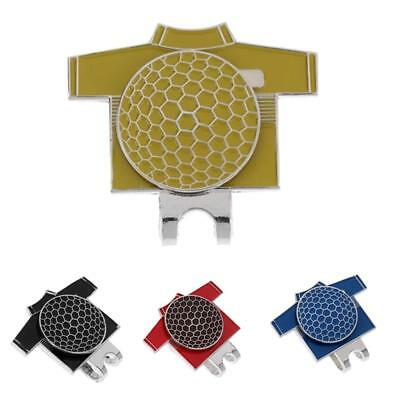 4Pcs Golf T-shirt Pattern Magnetic Hat Clip with Golf Ball Marker