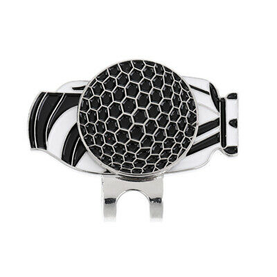 5Pcs Stainless Steel Creative Golf Ball Marker with Magnetic Hat Clip Black