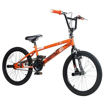 20 Zoll BMX Rooster Radical Rotor Pegs Freestyle Fahrrad schwarz orange
