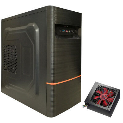 DYNAMODE LOCKSTOCK LM-GC05 mATX USB 3.0 PC CASE WITH 500W POWER SUPPLY INSTALLED