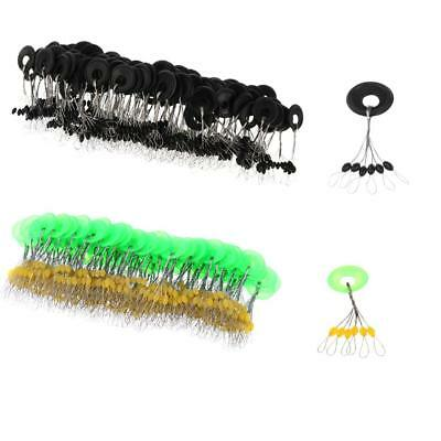 200Pcs Olive Shape Fishing Float Line Stoppers Sinker Float Bobber Connector