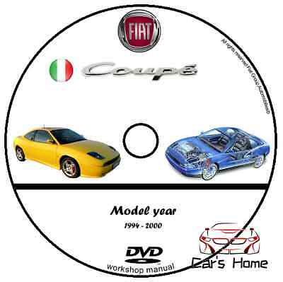 Manuale Officina Fiat Coupe' My 1994 - 2000 Workshop Manual Service Cd Dvd