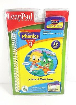LeapPad Leap Frog A Day at Moss Lake Phonics Lesson 3 Cartridge and Book