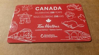 Tim Horton's gift card - Canada day:150th birthday- Limited 2017 edition