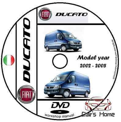 MANUALE OFFICINA FIAT DUCATO my 2002 - 2008 WORKSHOP MANUAL SERVICE DVD