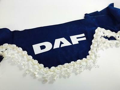 Truck Lorry Windscreen Window Shield Pelmet Tassels Waveform Logo BLUE for DAF