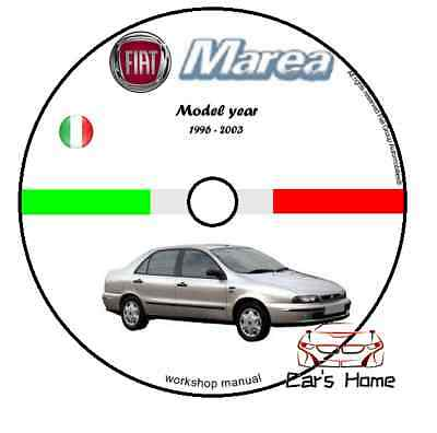 Manuale Officina Fiat Marea & Weekend My 96-03 Workshop Manual Service Cd Dvd