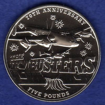 Channel Islands, Guernsey, 2013 £5 Coin, 5 Pounds, Dambusters Crown (Ref. t0696)