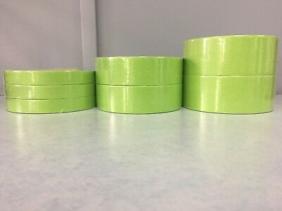 "3 Rolls of 3M 26334 1/4"" Tape 2 Rolls of 26338 1 1/2"" and 2 Rolls of 26340 2"""