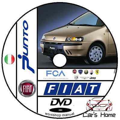 Manuale Officina Fiat Punto 2 Serie My 1999 - 2010 Workshop Software Dte