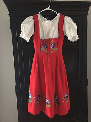 German Oktoberfest 3 piece Drindl dress size 4