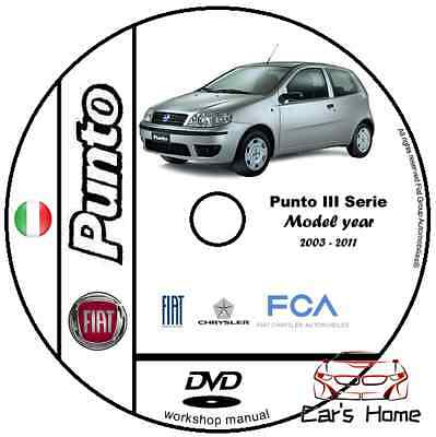 Manuale Officina Fiat Punto Terza Serie My 2003 - 2011 Workshop Manual E-Learn