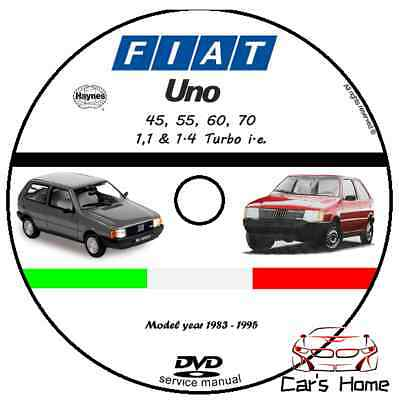 Manuale Officina Fiat Uno My 1983 - 1995 Workshop Manual Service Cd Dvd