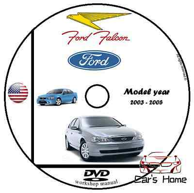 MANUALE OFFICINA FORD FALCON my 2003 - 2005 WORKSHOP MANUAL SERVICE DVD