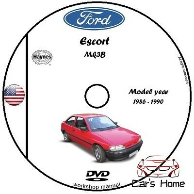 Manuale Officina Ford Escort My 1986 - 1990 Workshop Manual Service Dvd