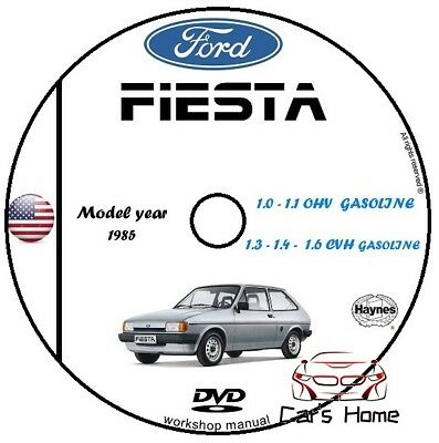 Manuale Officina Ford Fiesta My 1985 Workshop Manual Service Cd Dvd