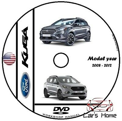 MANUALE OFFICINA FORD KUGA I° SERIE my 2008 - 2012 WORKSHOP MANUAL SERVICE  DVD