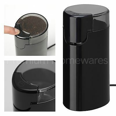 IKEA ALLMÄNNING (Allmanning) Black Electric Coffee Bean Grinder & Spice Mill