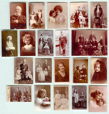Set Of Hand-Made Dolls' House 1/12Th Scale Victorian Family Photographs