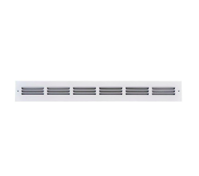 2 x 30 in White Return Air Vent Ventilation Grille Wall Register HVAC Cover Part