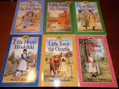 Lot of 6 LITTLE HOUSE books by Roger Lea MacBride & Maria D. Wilkes PB