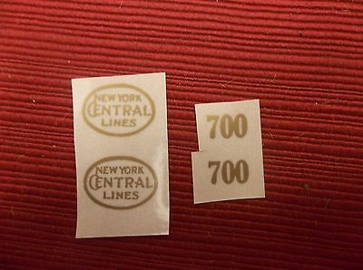 Gold Self-Adhesive Decals For Early Lionel Standard Gauge #700 Engine