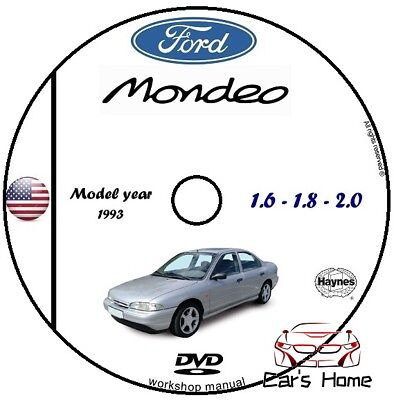 Manuale Officina Ford Mondeo My 1993 Workshop Manual Service Cd Dvd