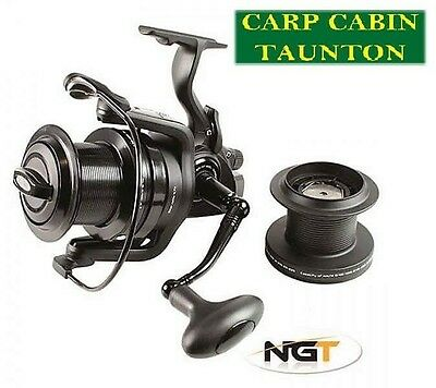 Ngt dynamic 9000 big pit 10+1 BB carp reel with spare spool