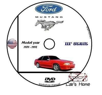 Manuale Officina Ford Mustang Capri My 1979 - 1992 Workshop Manual Service