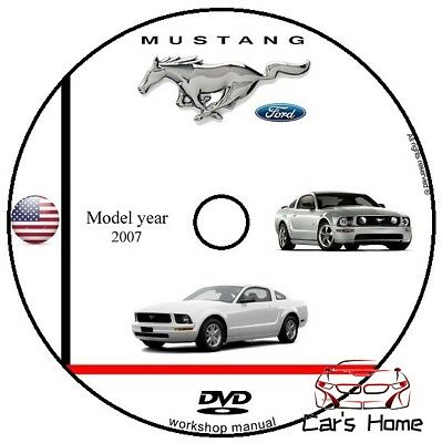 MANUALE OFFICINA FORD MUSTANG my 2007 WORKSHOP MANUAL SERVICE DVD
