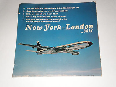 New York - London By B.o.a.c - Rare 1965 Documentary Ep - Anglia Records - Vg+