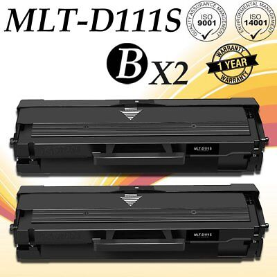 2PK MLTD111S MLT-D111S Toner Cartridge For Samsung 111S Xpress M2070FW M2020W