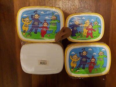 Vintage Teletubbies new MEPAL lunchboxes school schule brotzeitdose and rabbit