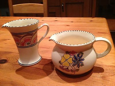 Two small Honiton Pottery hand painted jugs - Weston and Merton.