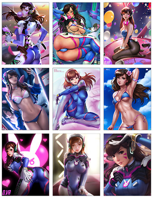 "OVERWATCH - D.Va 9-pc Stickers Set - 2.5""x3.25"" (PS4, XBOX, GAME, NOTEBOOK)"
