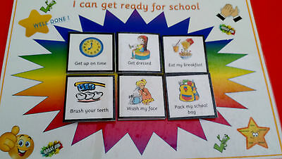 Routine Board + Pecs- GETTING READY FOR SCHOOL- Starting school  special needs