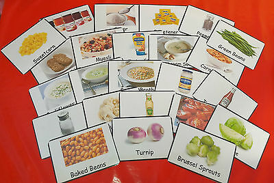 84 Food/ Meal Display Cards Nhs Approved - Care Homes / Special Needs/ Dementia