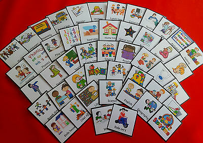 Visual Timetable - Early Years - Senior School - 72 Cards - Routine Sen Pecs