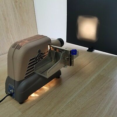 Brumberger Slide Projector Model 1422 TESTED With 2 Extra Slide Attachments VTG