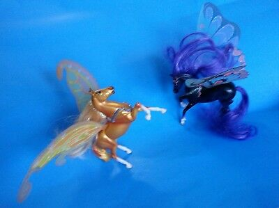 "Wind Dancers KRONA & SIROCCO Winged Fantasy Horses 3.5"" Tall Figures - Breyer"