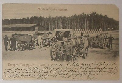 Zeithain training ground camp German Army pre-WW1 Electrische Scheibenzuganlage