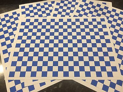 1/18 diorama Blue And White Garage/ Workshop Flooring (5 a4 sheets )