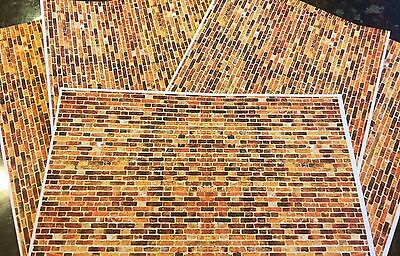 12 A4 Sheets Of 1/18 diorama Old Style Brickwork MISPRINT