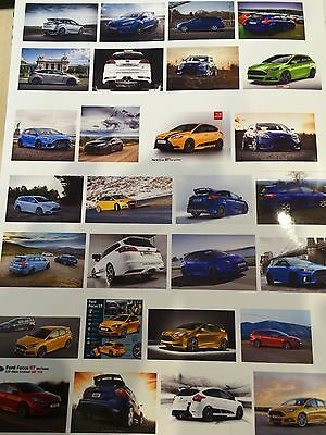 1/18 diorama FORD FOCUS ST showroom /garage posters 0025