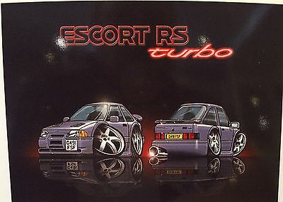 A4 Limited Print Of ESCORT RS TURBO