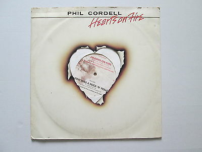 "Phil Cordell 12"" 45 rpm Stereo WHITE Vinyl Single Hearts On Fire 1979"