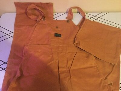 Vintage 2 Pairs Of Ely Overalls Work Clothing Size 27 - 34 New Never Worn
