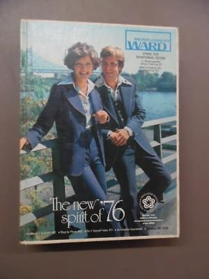 1976 Montgomery Ward Spring Catalog Fashion Home Decor Vintage Hard Cover