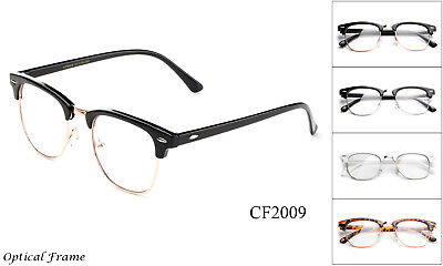 Optical Frame Clear Lens Glasses Nerd Geek Retro Vintage Hipster Frame Horn Rim