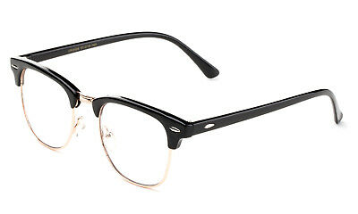 Classic Clear Lens Glasses Black Gold Aviator Retro Eyewear Men Women Vintage